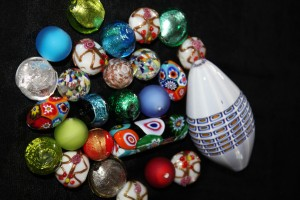 A beautiful collection of Venezian lampwork beads as well as other styles