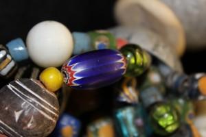 Antic chevron bead, Venice Nigeria