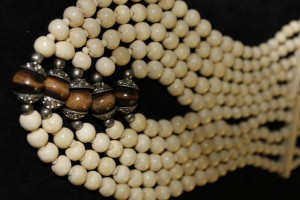Bone beads, India