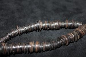 Coconut shell bead disks Kenya