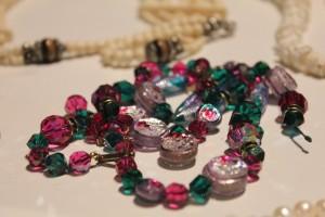 Czech glass crystals and handmade glass beads