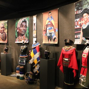 Overview of some of the items and traditional costumes from the African continent