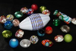 Venetian Millefiori, Lampwork, Goldstone and Frosten beads