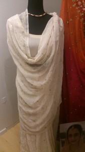 Beaded Indian wedding sari