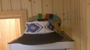 Zulu hat for women as well as an old antique belt ready to be mounted