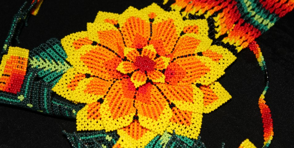 Beautiful seven layer beadwork from Mexico