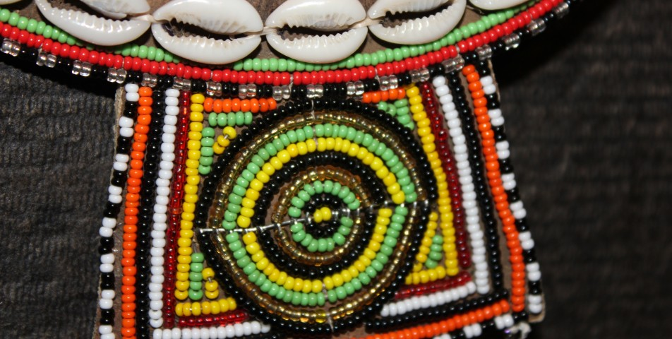 Detail from Masaai collar (1)